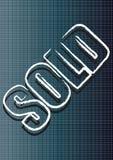 Verkaufszeichen und Beschaffenheit Stockfoto