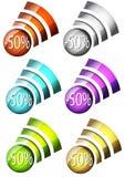 Verkaufszeichenkompilation Lizenzfreies Stockbild