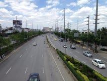 Verkeer in Bangkok Royalty-vrije Stock Foto's