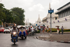 Verkeer in Bangkok Stock Afbeelding