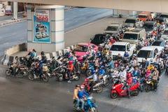 Verkeer in Bangkok Stock Foto
