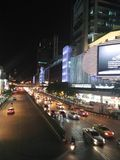 Verkeer in Bangkok Thailand Stock Foto's
