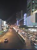 Verkeer in Bangkok Thailand Stock Foto