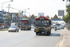 Verkeer in Bangkok, Thailand. Royalty-vrije Stock Afbeeldingen