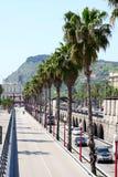 Verkeer in Barcelona, Spanje Royalty-vrije Stock Fotografie