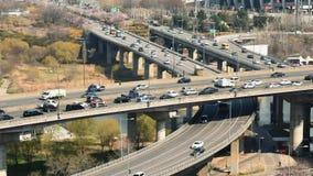 Verkeer bij de Stad van Seoel, Zuid-Korea Tijdtijdspanne HD stock footage