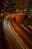 Verkeer bij nacht stock foto