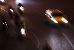 Verkeer bij nacht Royalty-vrije Stock Afbeelding