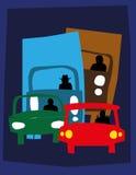 Verkeer bij nacht stock illustratie