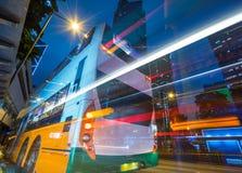 Verkeer binnen de stad in van Hongkong Royalty-vrije Stock Foto