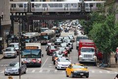 Verkeer in Chicago Stock Afbeelding