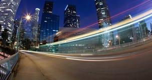 Verkeer dat Los Angeles verlaat Stock Foto's