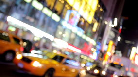 Verkeer in de stad van New York stock footage