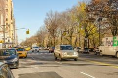 Verkeer dichtbij de Stad Manhattan van New York Stock Fotografie
