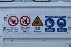 Verkeer die - Portugal signaleren Stock Afbeelding