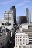 Verkeer en bouw in Londen het UK Europa Royalty-vrije Stock Afbeelding