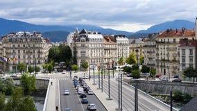 Verkeer in Grenoble stock video