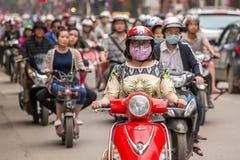 Verkeer in Hanoi, Vietnam Stock Afbeelding