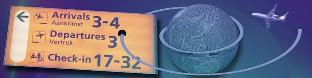 Verkeer het Wereldwijd van de banner Stock Foto