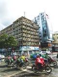 Verkeer in Ho Chi Minh City royalty-vrije stock foto's