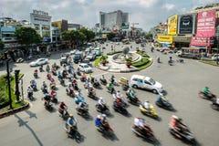 Verkeer in Ho-Chi-Minh-Stad royalty-vrije stock fotografie