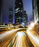 Verkeer in Hong Kong stock foto