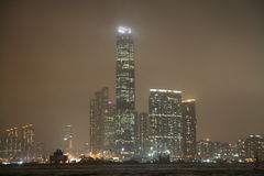 Verkeer in Hongkong Wan Chai stock afbeeldingen