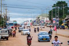 Verkeer in indochina royalty-vrije stock afbeeldingen