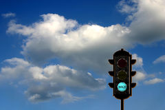 Verkeer-licht concept stock foto's
