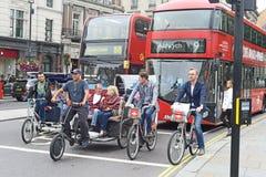 Verkeer in Londen Stock Fotografie