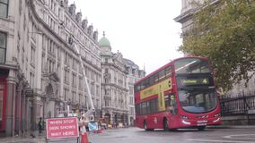 Verkeer in Londen stock video