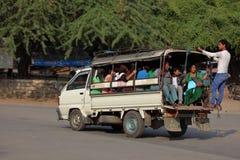 Verkeer in Myanmar Stock Foto's