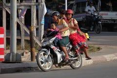 Verkeer in Myanmar Stock Fotografie