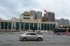 Verkeer in Nanning-stad, China royalty-vrije stock afbeeldingen