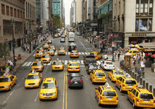 Verkeer in New York Stock Afbeelding