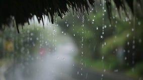 Verkeer onder regen stock videobeelden