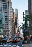 Verkeer op de straten van Manhattan Royalty-vrije Stock Foto