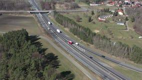 Verkeer op een Duitse autosnelweg stock footage