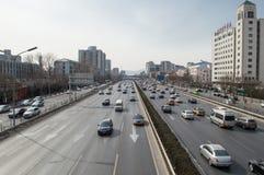 Verkeer in Peking Royalty-vrije Stock Afbeeldingen