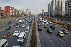Verkeer in Peking Stock Afbeeldingen