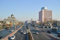 Verkeer in Peking in China Stock Afbeeldingen