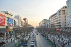 Verkeer in Peking in China Royalty-vrije Stock Foto