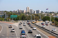 Verkeer in Perth stock afbeelding