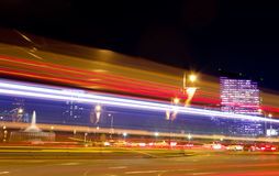 Verkeer in Philadelphia bij Nacht Royalty-vrije Stock Fotografie