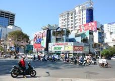 Verkeer in Saigon (Ho Chi Minh City), Vietnam stock fotografie