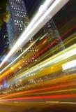 Verkeer in stad stock afbeelding