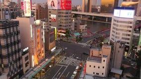 Verkeer in Tokyo stock video