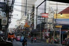 Verkeer van Bangkok, Azië stock afbeelding