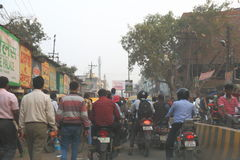 Verkeer in Varanasi, India Royalty-vrije Stock Afbeeldingen