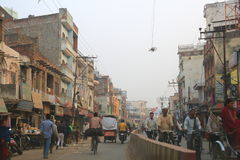 Verkeer in Varanasi, India Stock Fotografie